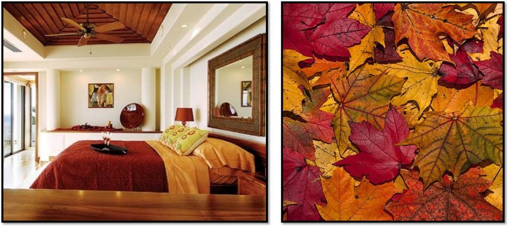 Autumn interior inspiration red and green 2